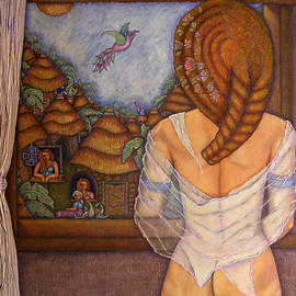 Beyond the window - the dream by Madalena Lobao-Tello