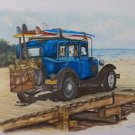 FORD A at the beach by Nicky Chiarello