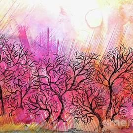 Forest on Fire Painting by Patty Donoghue