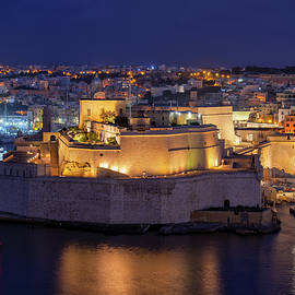 Fort St Angelo at Night in Malta by Artur Bogacki