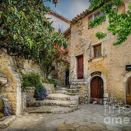 Fountain Courtyard In Eze, France 2 by Liesl Walsh