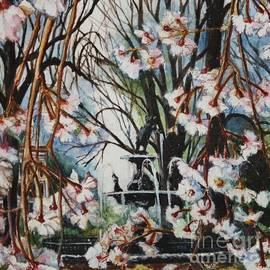 Fountain Square Park Spring in Earth Tones by Misha Ambrosia