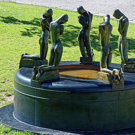 Fountain with Kneeling Youths by Sally Weigand