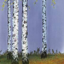 Four Birch by Carolyn Doe