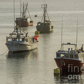 Four Lobster Boats by Alana Ranney