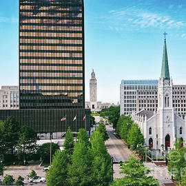 Fourth Street from the Cathedral to the Capital Baton Rouge by Scott Pellegrin