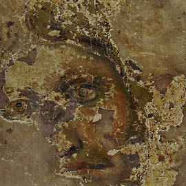 Fragmentary and fragile face of the crucified Christ, Volterra, Tuscany, Italy by Terence Kerr