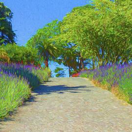 Fragrant Lavender Path by Bonnie Follett