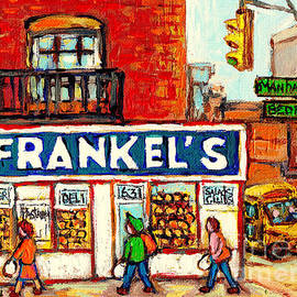 Frankel's Jewish Style Deli Paintings Manhattan Bedford Best Nyc Restaurants American Art C Spandau by Carole Spandau
