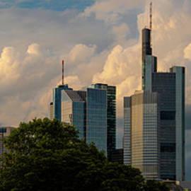 Frankfurt am Main Sunset Skyline by Norma Brandsberg