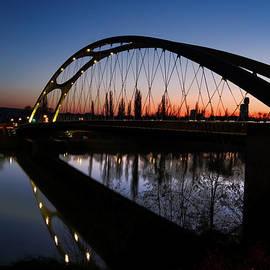 Frankfurt Bridge Sunset by Norma Brandsberg