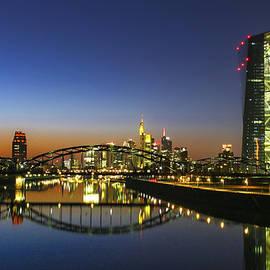 Frankfurt Sunset Skyline by Norma Brandsberg