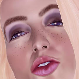 Freckle Face Portrait by S Jamieson
