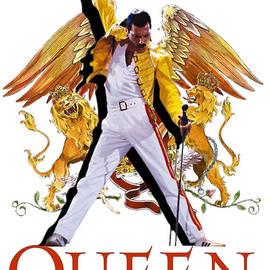 Freddie Mercury Queen Logo by Sally Ayad