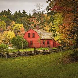 Freeman Farm in fall colors at Old Sturbridge Village by Jeff Folger