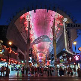 Fremont Street Experience Night Scene, Las Vegas, NV, USA by Derrick Neill