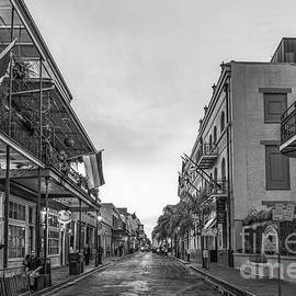 French Quarter Street Scene B W  by Bee Creek Photography - Tod and Cynthia