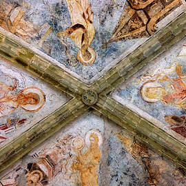 Fresco, Roof paintings. Chillon Castle. Rooms.  Switzerland. by Guido Montanes Castillo