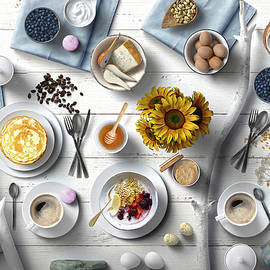 Fresh And Delicious Summer Breakfast by Johanna Hurmerinta