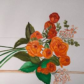 Fresh Cut Roses by Inez Ellen Titchenal
