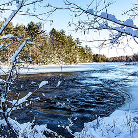 Fresh River Snowfall by Neal Nealis