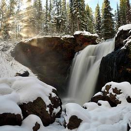 Fresh Snow At Moose Falls by Michael Morse