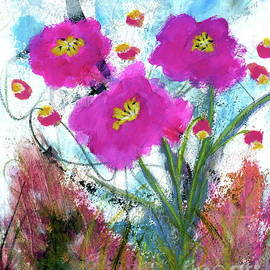 From the Heart Abstract Floral Painting by Itaya Lightbourne