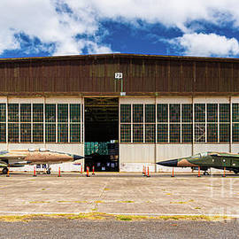 Frontal View of Hangar 79 on Ford Island Hawaii by Phillip Espinasse