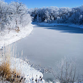 Frosty Bluff's Pond  by Shelly Gunderson