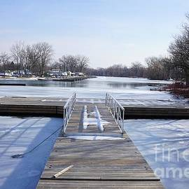 Frozen Dock by Maria Faria Rodrigues