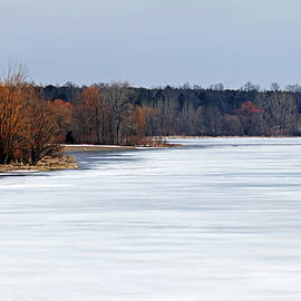 Frozen Snow Covered Lake I by Debbie Oppermann