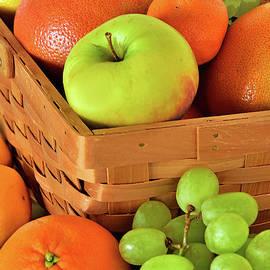 Fruit Basket Still Life in Orange Green, Yellow   by Regina Geoghan