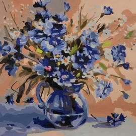 Fun Abstract Flowers in Vase by Ronel BRODERICK