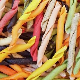 Fusilli pasta eight flavours. by Joe Vella