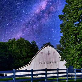 Galaxy barn and sign by Randall Branham