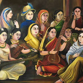 Galaxy of Musicians oil painting by Anjali Swami