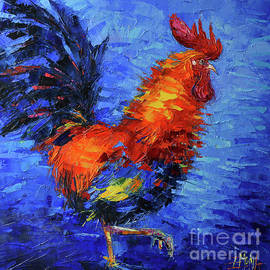 GALLIC ROOSTER - commissioned oil painting Mona Edulesco by Mona Edulesco