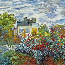 Garden At The French Country House by David Lloyd Glover