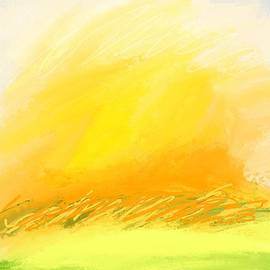 Garden Colors Abstract Expressionism  by Sarah Niebank