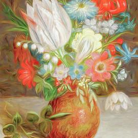Garden Flower Bouquet  by Susan Hope Finley