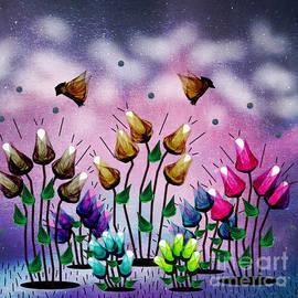 Garden Of Positive Thoughts by Diamante Lavendar