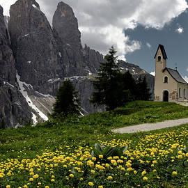 Gardena Pass Alpini Chapel by Norma Brandsberg