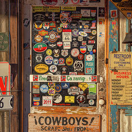 Gas Station Door by Dave Bowman