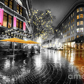 Gastown Flat Iron Square 2 by Bob Christopher