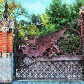 Gate at the Guell Pavilions by Jerzy Czyz