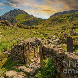 Gate to Snowdonia Wales by Adrian Evans