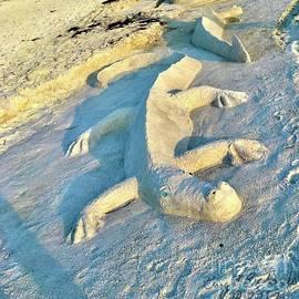 Gator Sand Sculpture by Gary F Richards