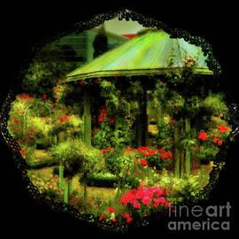 Gazebo and Roses by Yvonne Johnstone
