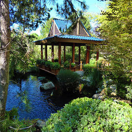 Gazebo Pond at Gardens of the World by Julieanne Case