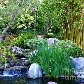 Gazebo Pond in Garden of the World 2  by Julieanne Case